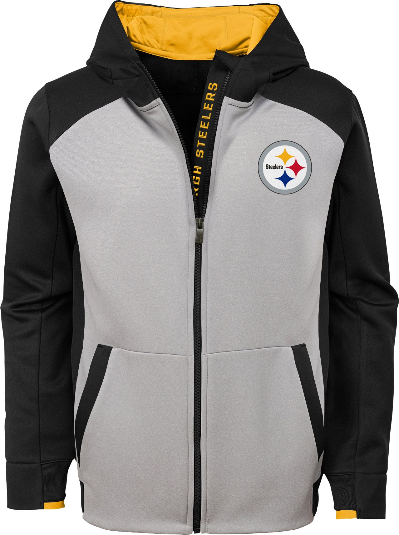 more photos 4a744 418b7 NFL Team Apparel Youth Pittsburgh Steelers Hi-Tech Full-Zip ...