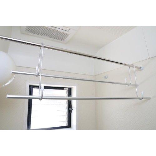 省スペースでたくさん干せる 浴室専用物干し竿 部屋干し 室内