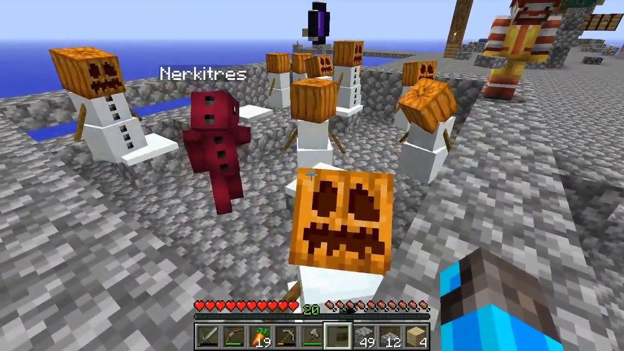 Ejercito De Nieve Y Enfados Minecraft Skyblock 9 Minecraft Lingotes De Oro Ejercito