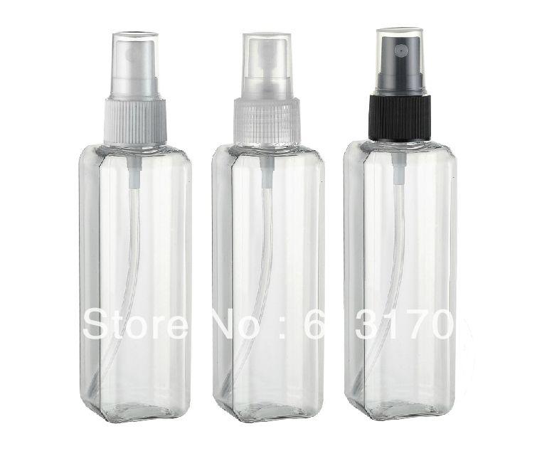 100ml Plastic Spray Bottle Transparent Square Pet Perfume Bottle Wholesale Retail Free Shipping Inrefillable B Refillable Perfume Bottle Perfume Bottles Bottle