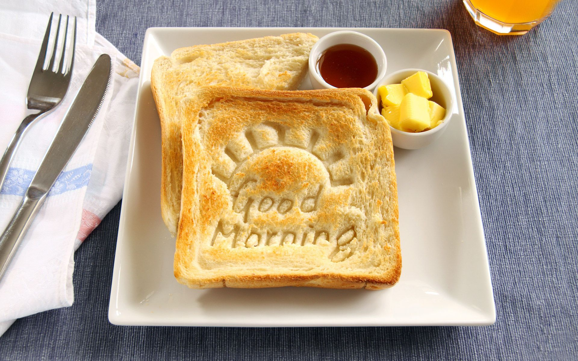 Good Morning Wishes With Breakfast HD Wallpaper