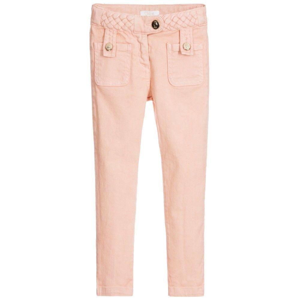 Chloe Girls Pink Braided Pants
