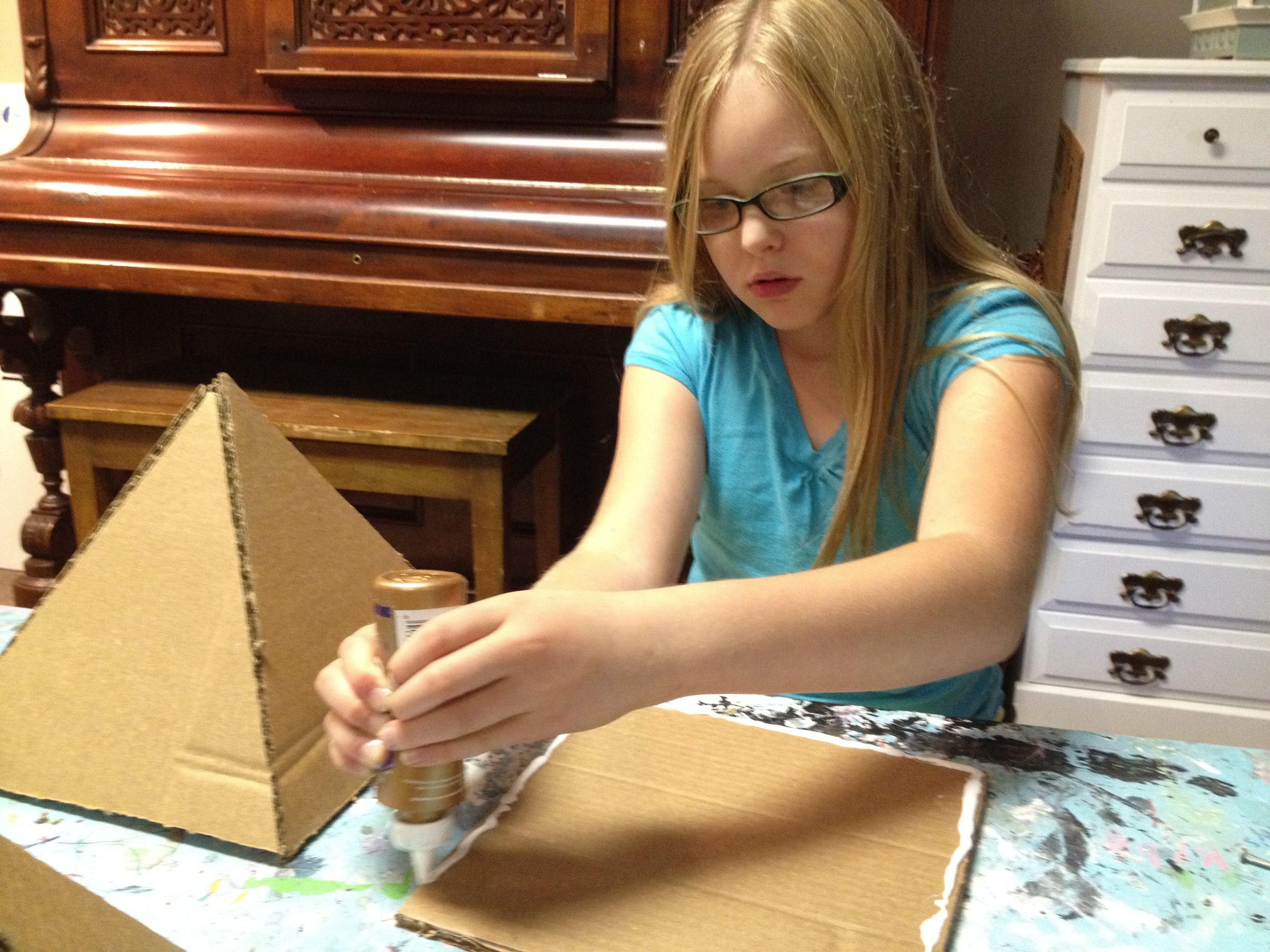 DIY Cardboard Pyramid - great tutorial | Egypt Study - J | Pinterest ...