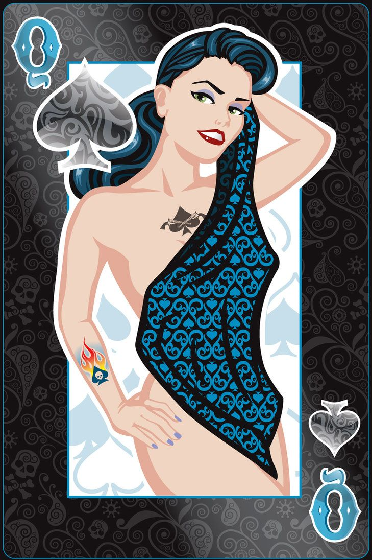 Pin-Up Playing Cards by Jeff Chapman: The Queen of Spades