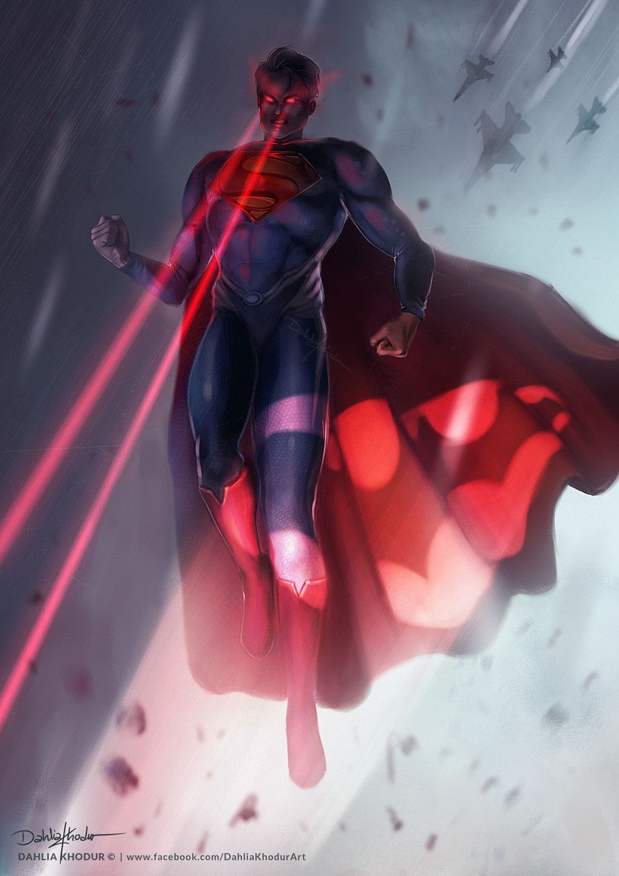 #Superman #Fan #Art. (Superman vs. Batman) By: Dahlia Khodur. (THE * 5 * STÅR * ÅWARD * OF: * AW YEAH, IT'S MAJOR ÅWESOMENESS!!!™)[THANK U 4 PINNING!!!<·><]<©>ÅÅÅ+(OB4E)