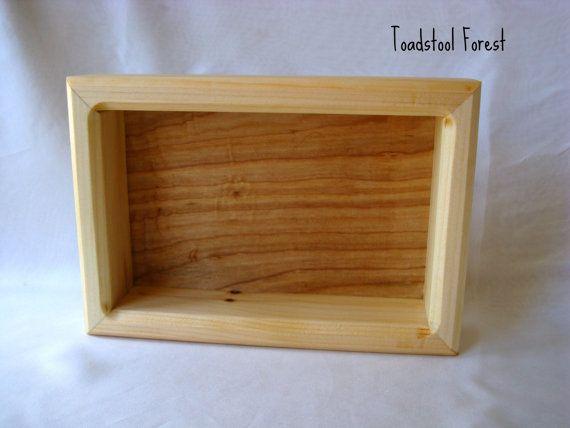Custom Listing For Jan ~ Waldorf Inspired Display Box ~ Gnome Storage Box ~  Peg Doll Storage ~ Wooden Box ~ Trinket Tray