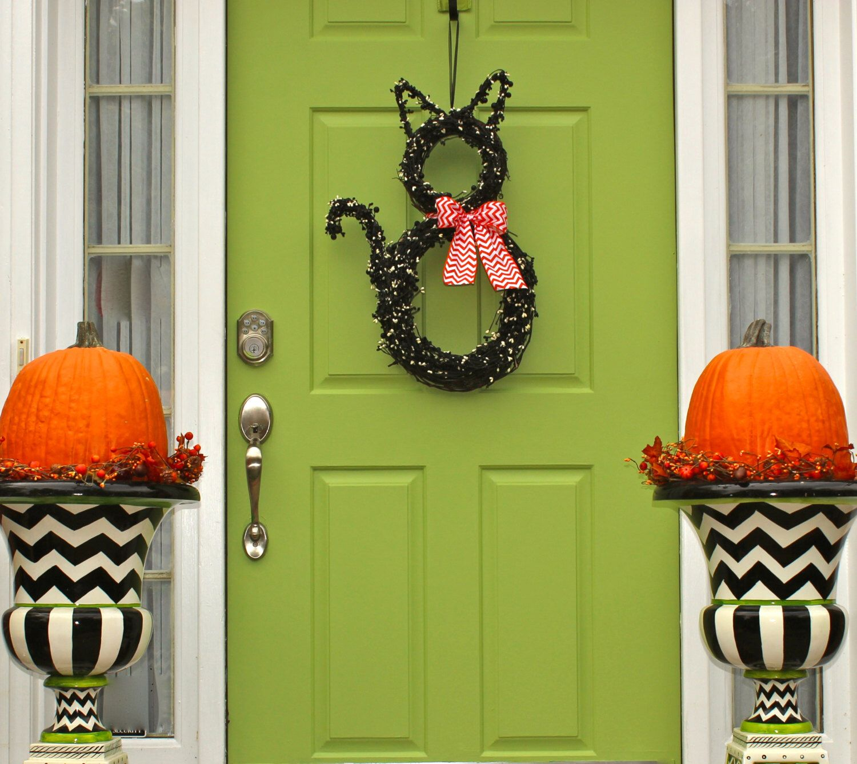 Halloween Wreath - Cat Wreath - Original Wreath - Fall Wreath - door decoration halloween