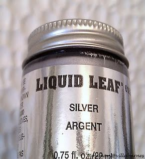 liquid silver leaf paint painting pinterest leaves