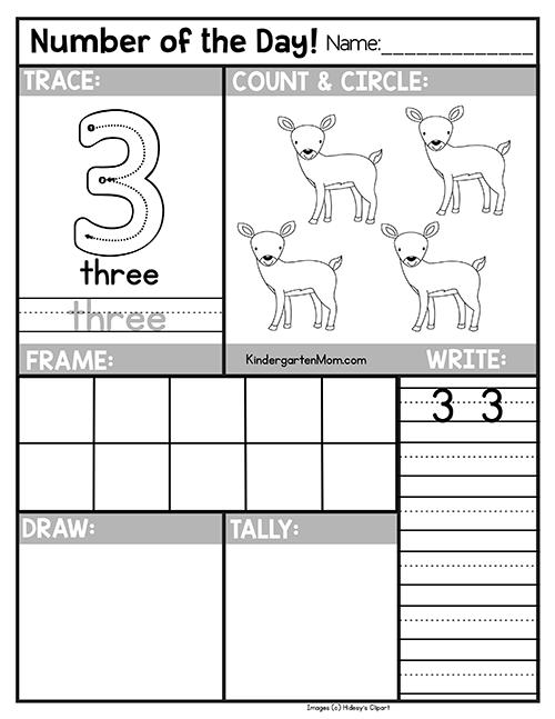 Free Number Of The Day Worksheets For Preschool Kindergarten Students Trace Kindergarten Worksheets Kindergarten Math Printables Preschool Math Worksheets