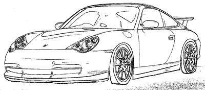 Ausmalbilder Porsche Gt3 Rs