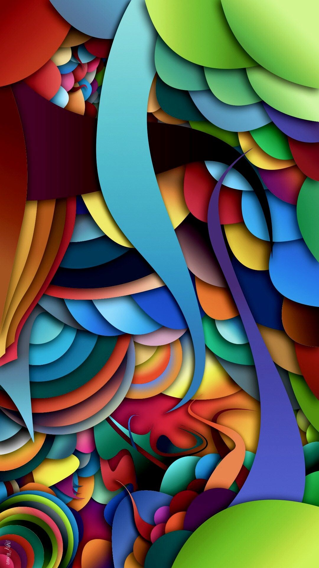 Colorful Abstract Geometric Wallpaper Live wallpapers
