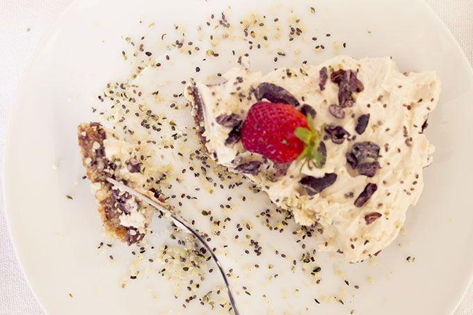Hempseed sprinkles. Raw Coconut Cacao Tart kitchen.nutiva.com