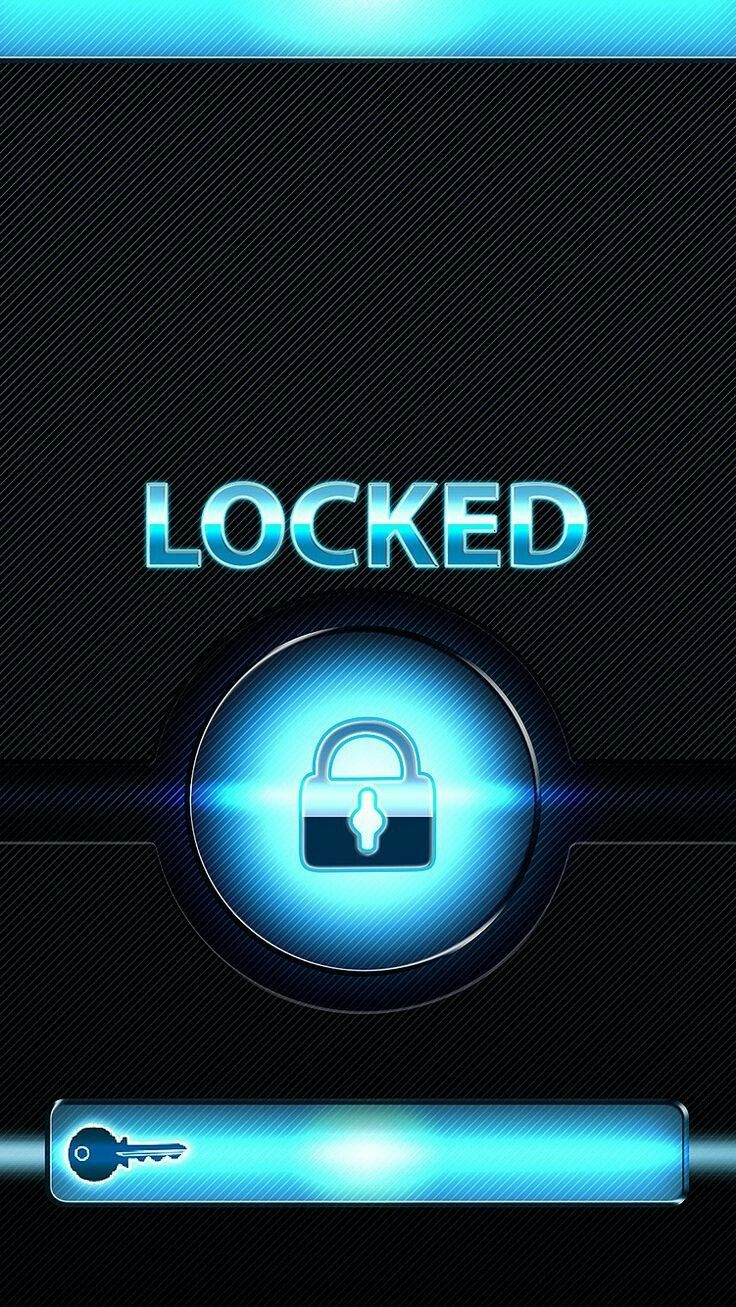 Blue Padlock and Key Lockscreen Lock screen wallpaper