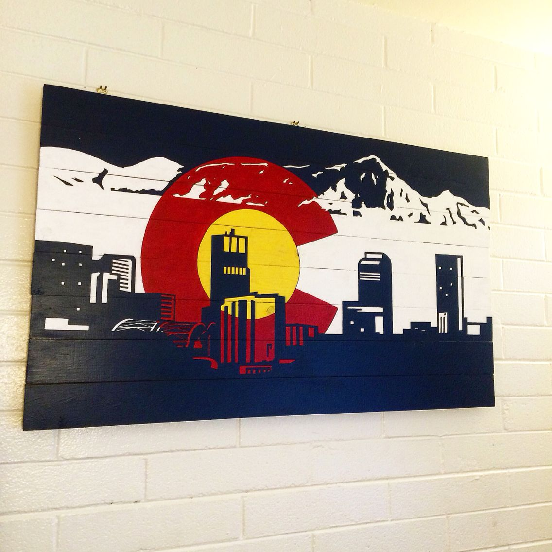 Denver Colorado Skyline Paint And Woodburn Art With Images