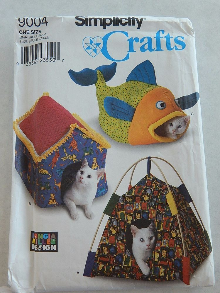 Simplicity Pet Cat Beds Tent Fish House Sewing Pattern