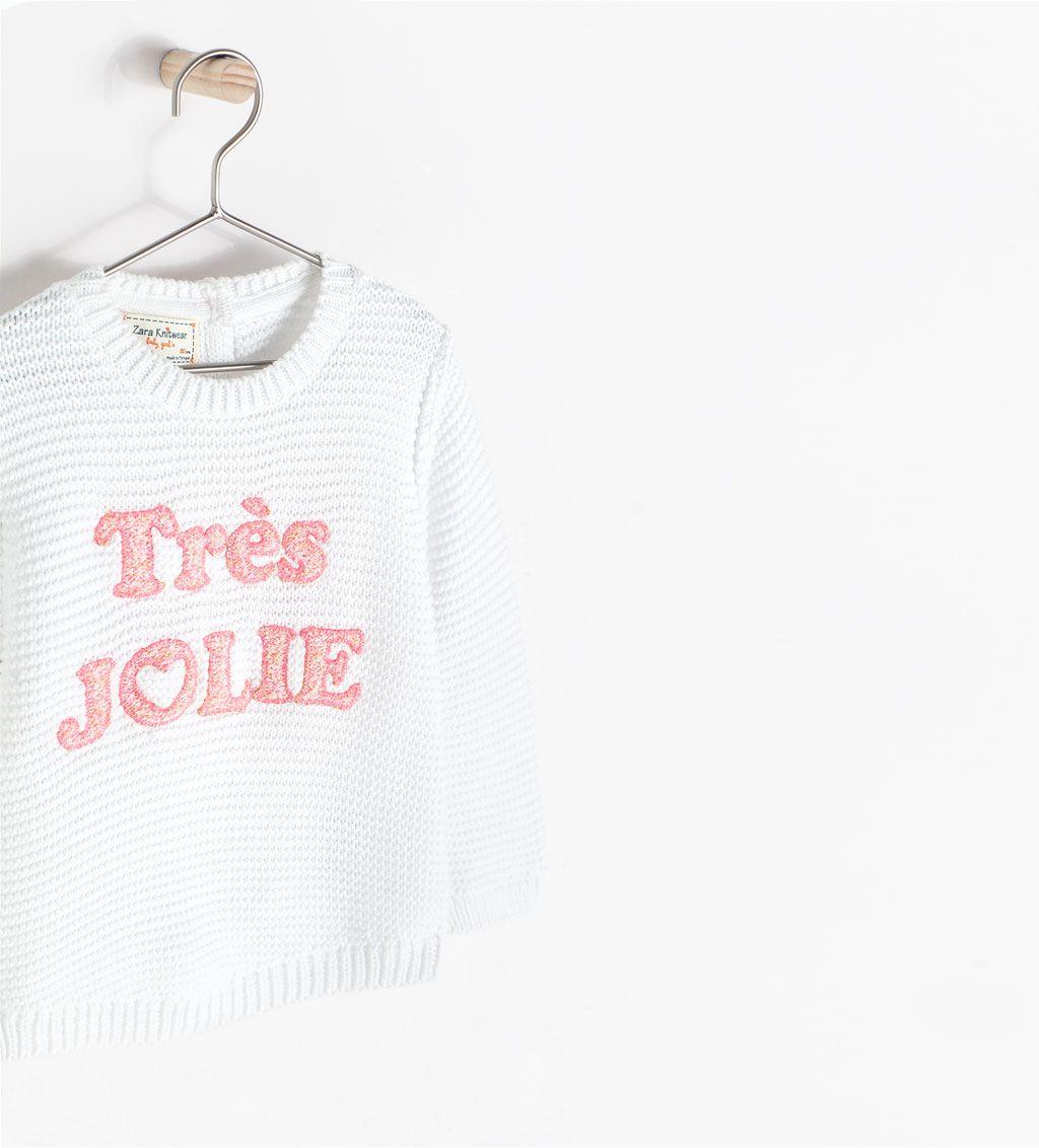 ZARA - NEW THIS WEEK - TRÈS JOLIE SWEATER | Trui, Baby ...