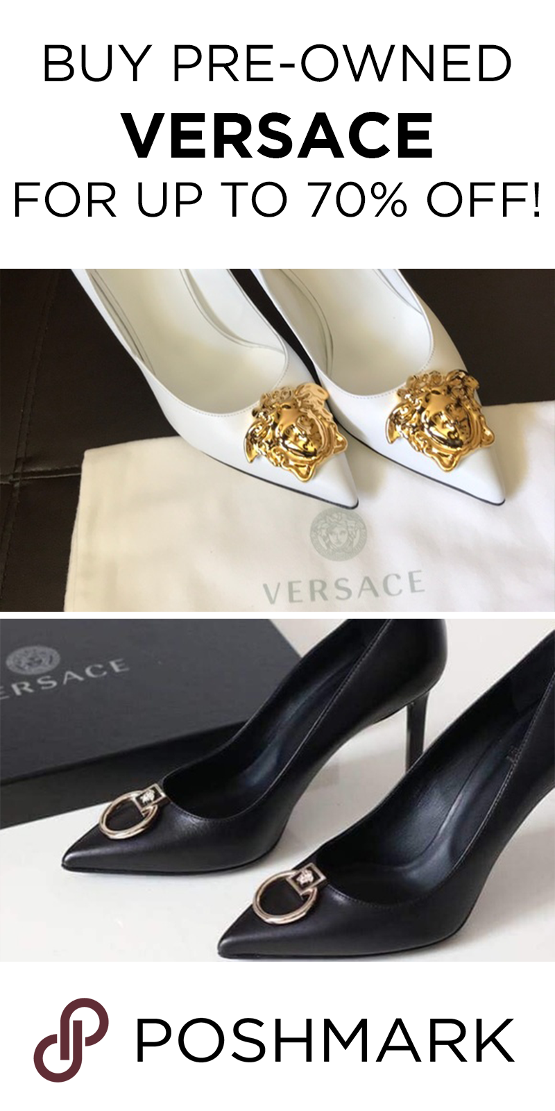 db49b1db923 Get authentic Versace shoes   heels for cheap on Poshmark. Download the app  to shop!