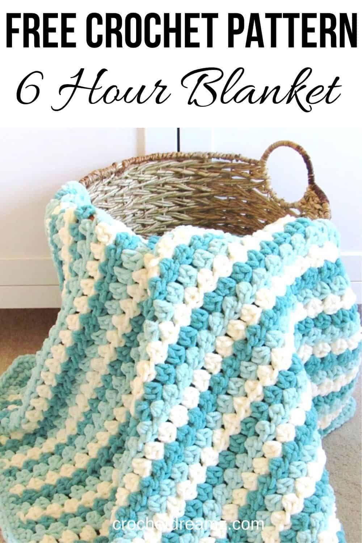 Crochet Granny Stripe, Mock Granny Stitch Blanket - Crochet Dreamz