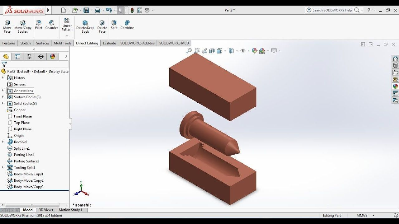 Solidworks Tutorial 2017 For Beginners Exercise 63 Mold