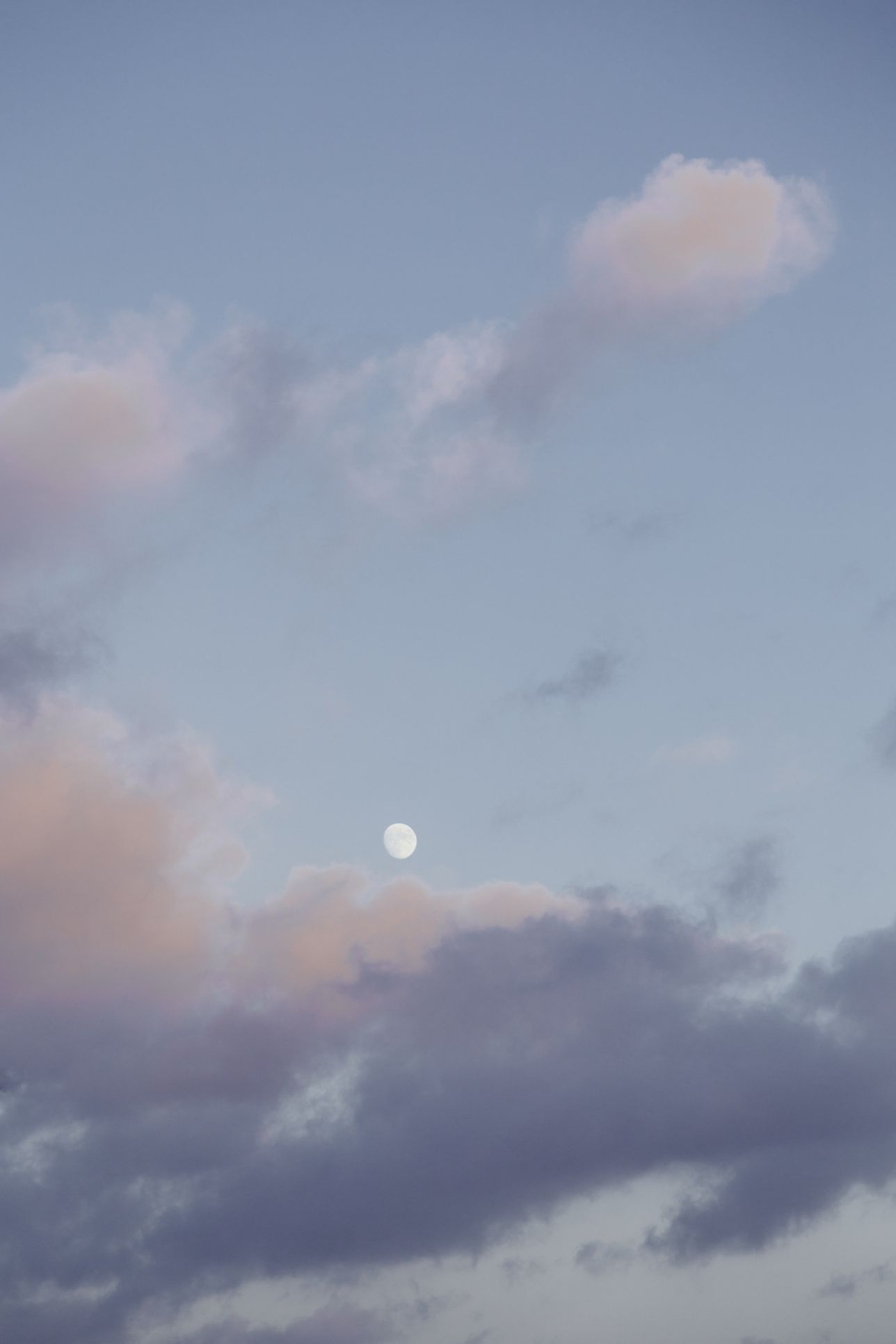 Moon In Pastel Clouds A Way Of Seeing Pastel Clouds Moon Photography Clouds