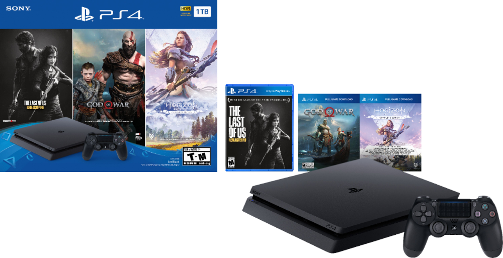 Sony Playstation 4 1tb Only On Playstation Console Bundle Jet Black 3004132 Best Buy Playstation Consoles Sony Playstation Playstation 4