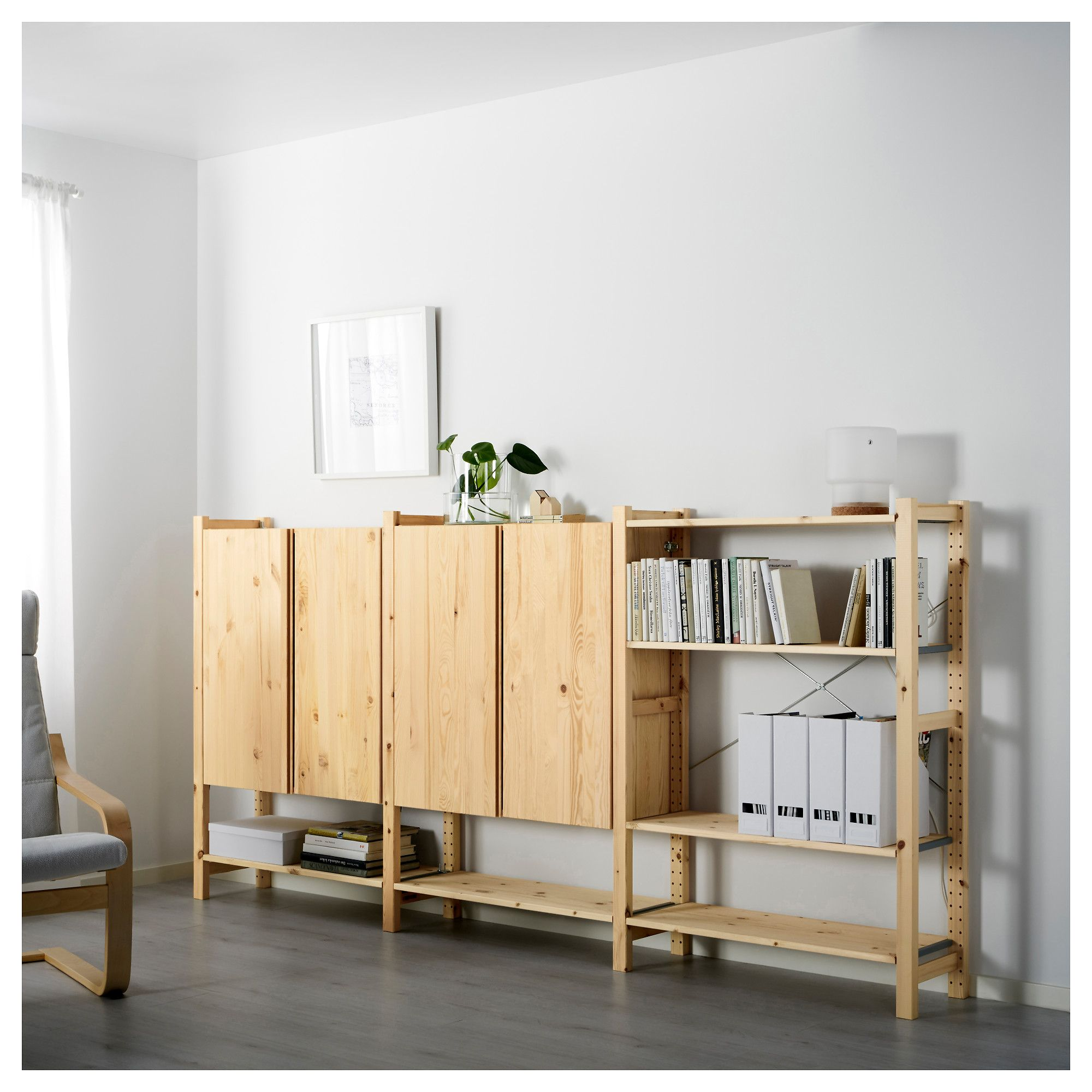 IKEA - IVAR, Side unit, 30x124 cm, , Untreated solid pine is a durable natural material that can be painted, oiled or stained according to preference.