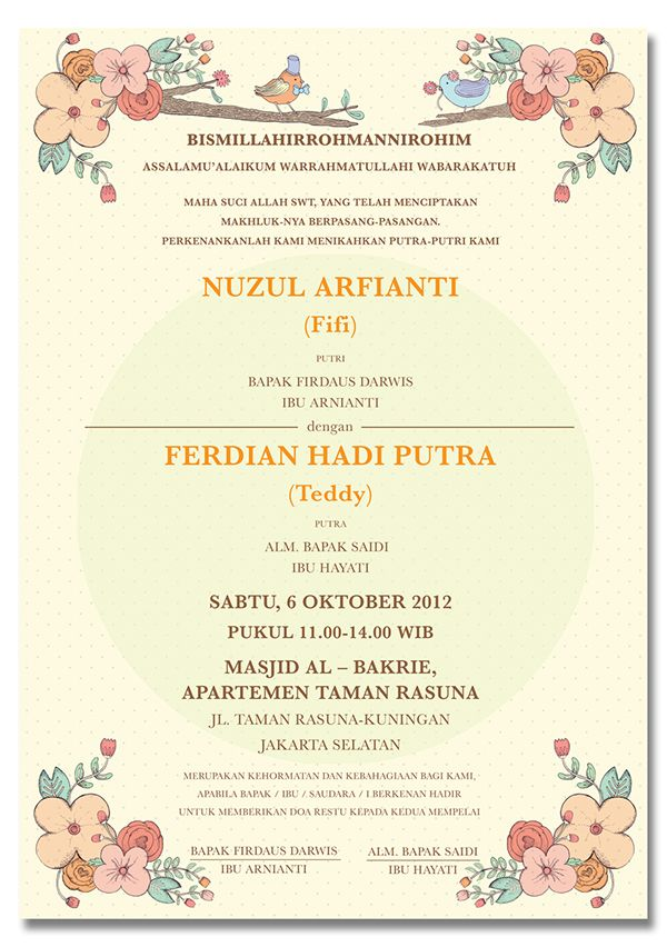 This Is A Wedding Invitation For My Officemate Fifi Dengan