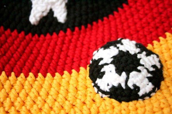 Fussball Applikation Kostenlose Häkelanleitung Häkeln Stricken