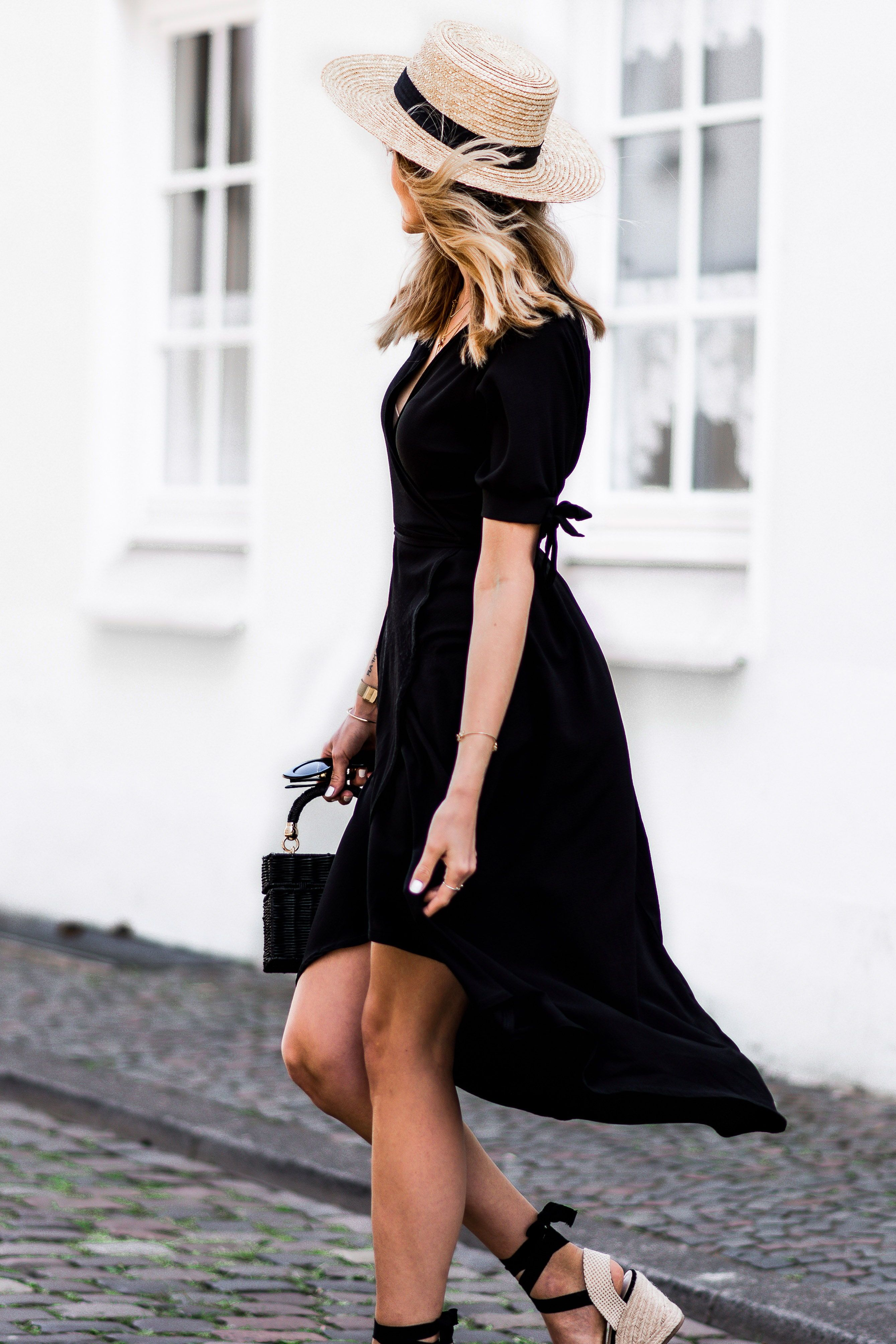 The Most Flattering Little Black Dress Lifestyle Dresses Black Dress Wedges Outfit Spring [ 4016 x 2678 Pixel ]