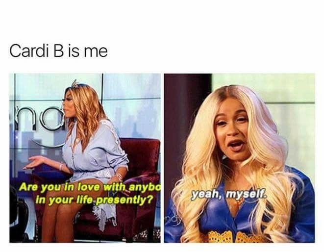 Pin By Nicki On Soooo Me Cardi B Memes Cardi B Quotes Cardi B