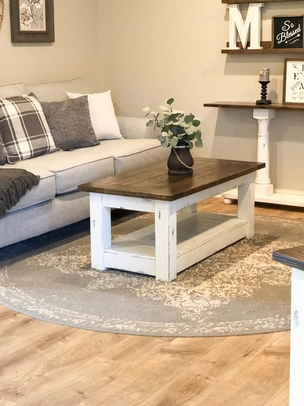 Chunky farmhouse coffee table, clean lines, distressed 48 inch -   - #Armchairs #ChairDesign #chunky #clean #coffee #CoffeeTables #distressed #farmhouse #FuturisticFurniture #Inch #lines #LoungeChairs #ModernFurnitureDesign #PlumbingPipeFurniture #PlywoodFurniture #table