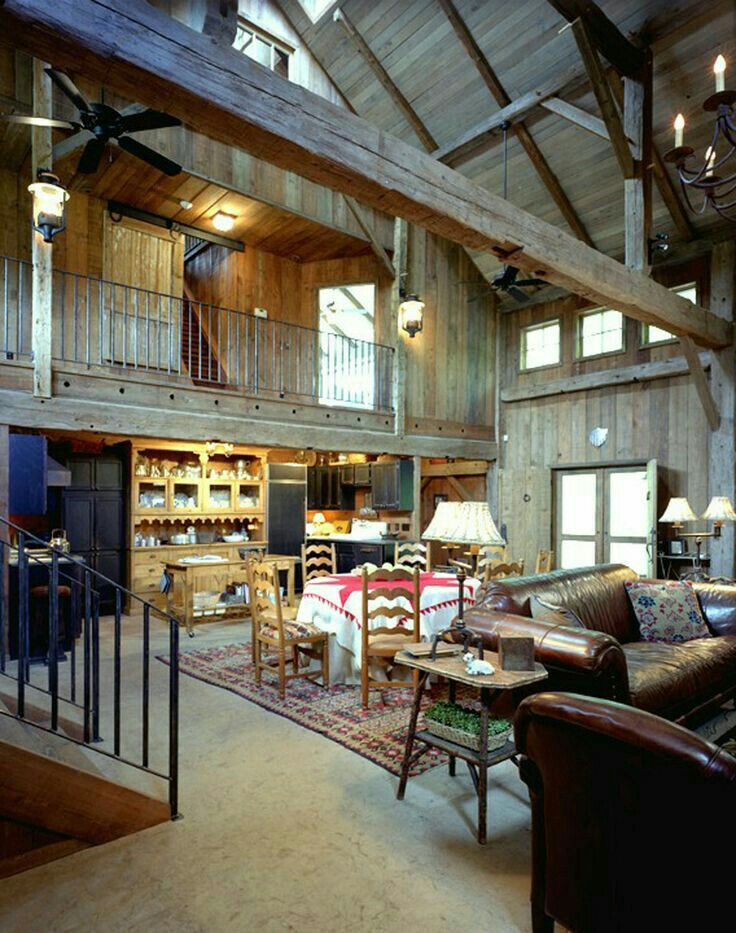 Pin by sandee white on metal buildings pinterest barn for Converting a pole barn into living space