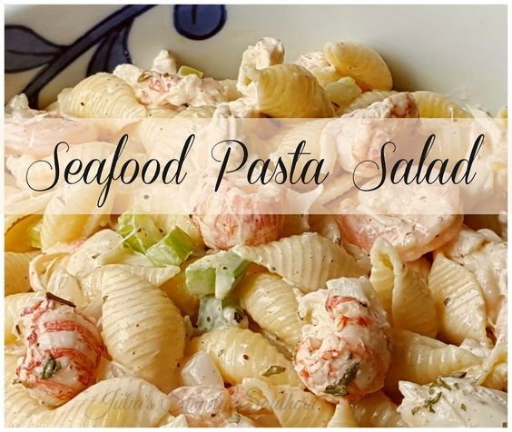 Seafood Pasta Salad Easy Recipe Tasty Delicious Southern