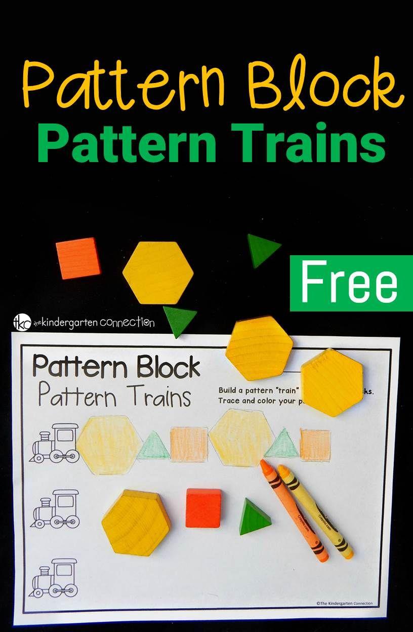 Pattern Block Trains | Pattern blocks, Math patterns ...