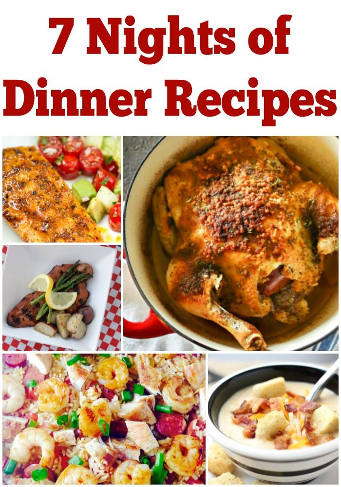 7 Nights Of Dinner Recipes For Busy Families Free Printable Weekly Meal Plan With New Ideas