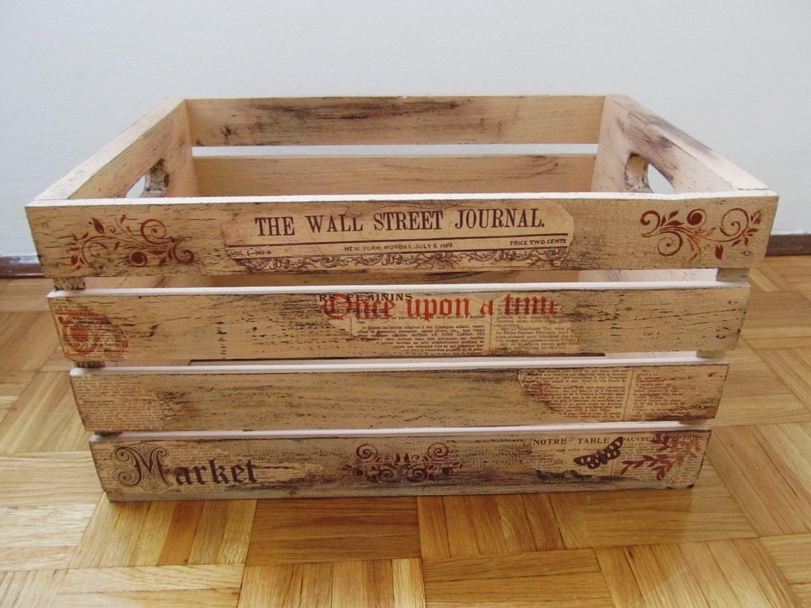 Wooden Crates, Decor, Newspaper Box