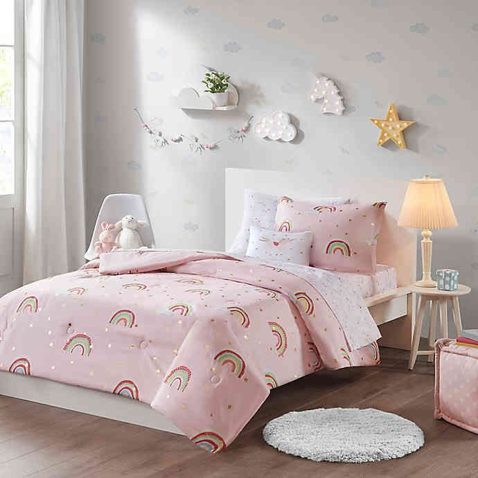 Photo of Mi Zone Kids Alicia Bedding Collection in Pink | Bed Bath & Beyond