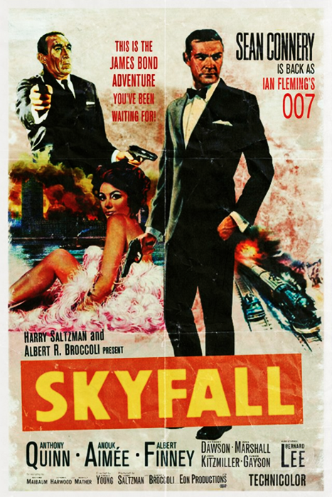 Retro movie poster: Skyfall | Geeksplosion! | Pinterest | Skyfall ...