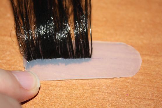 Вживление волос в силикон