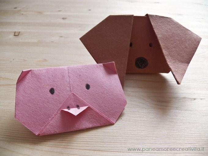 animaletti di carta origami per bambini