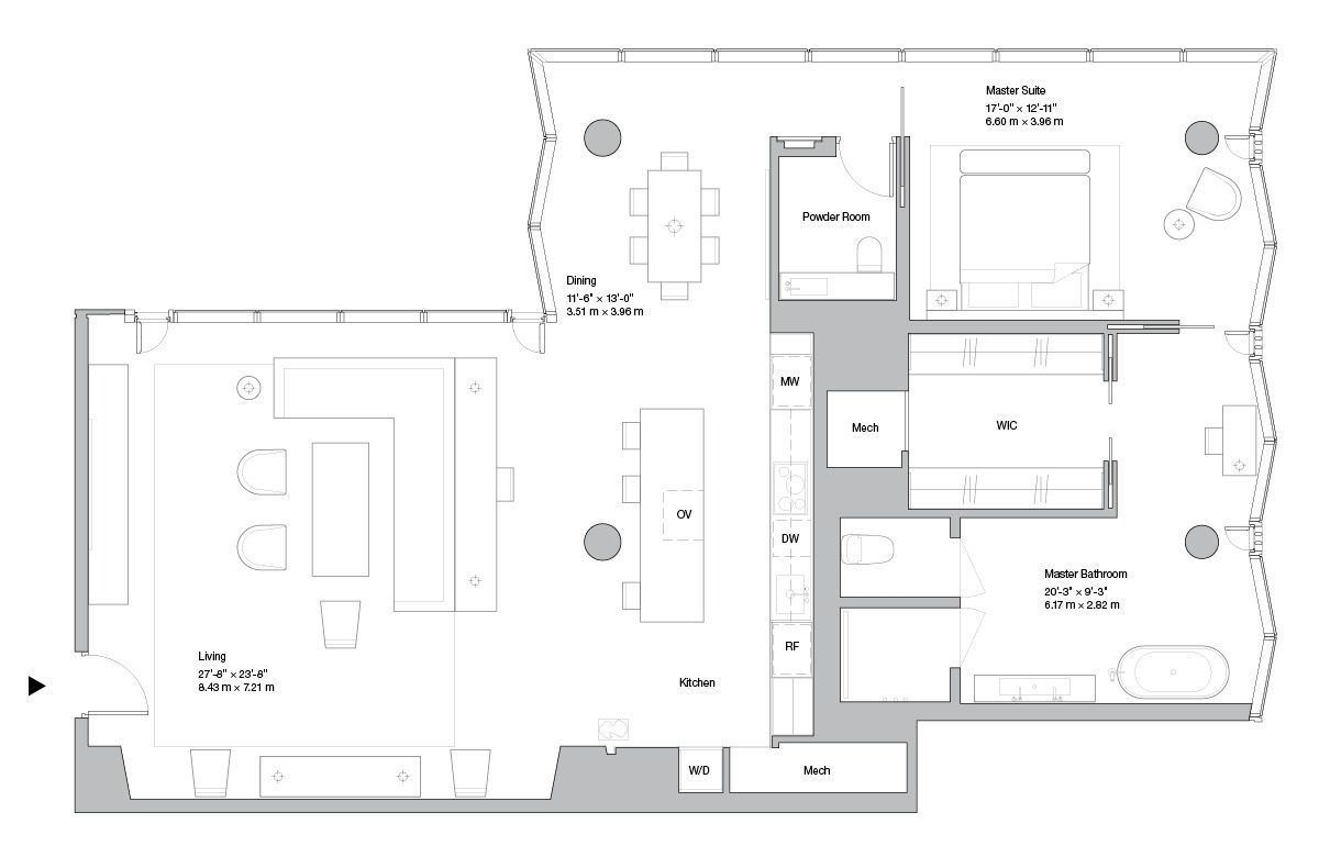 Norman Foster Aby Rosen S Midtown Condo Gets Floorplans Floor Plans Norman Foster Aby Rosen