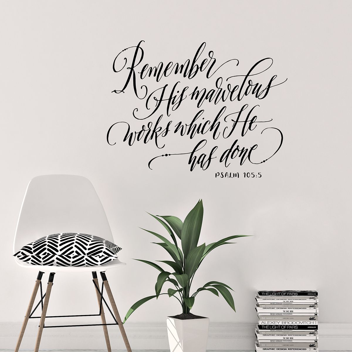 biblical wall decals scripture art remember his on wall stickers for kitchen id=91572