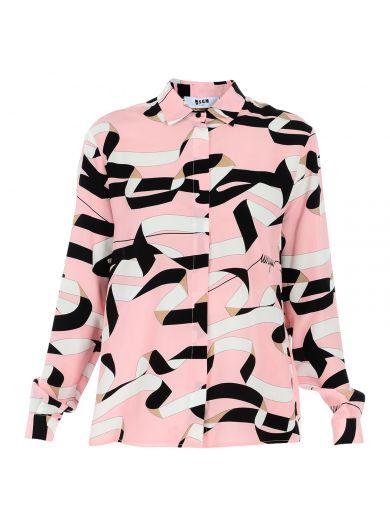 MSGM Msgm Geometric Print Shirt. #msgm #cloth #shirts