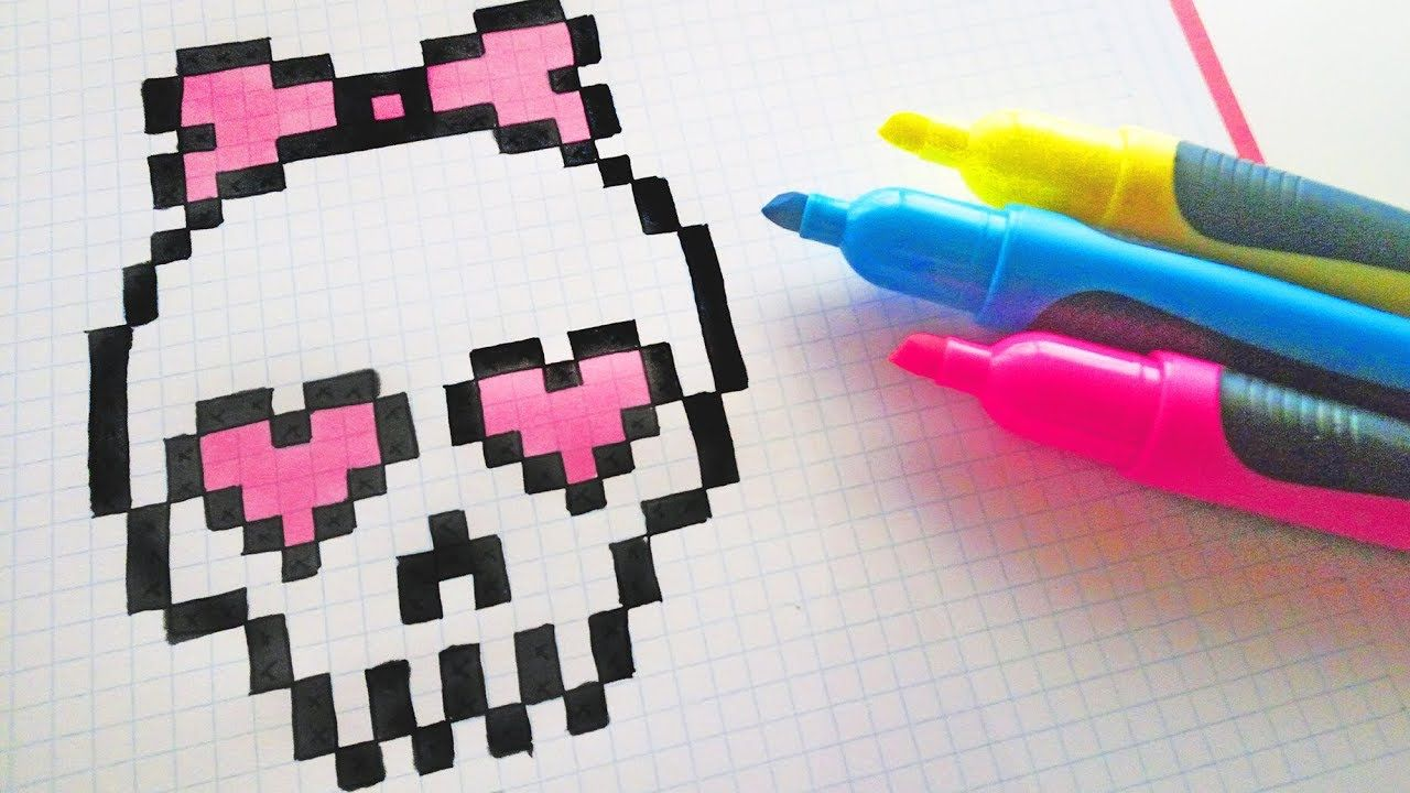 Handmade Pixel Art How To Draw Cute Skull Pixelart