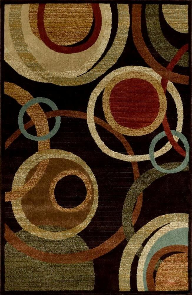 Woven Area Rug - Renaissance Collection Atlas dark wine 5' x 7'7