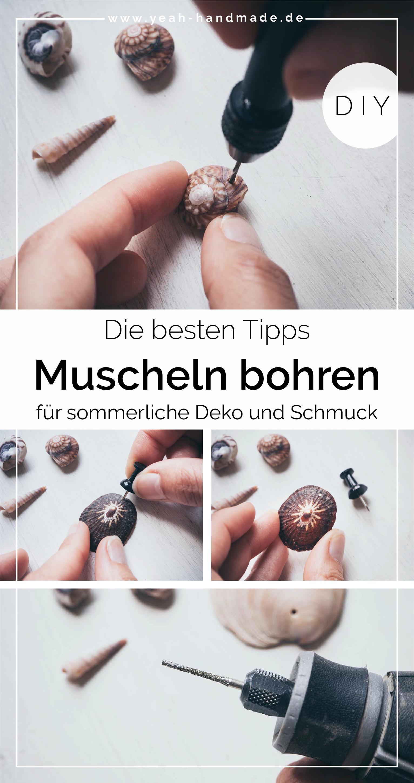Photo of DIY Einfach Muscheln bohren für Schmuck und Deko im Sommer