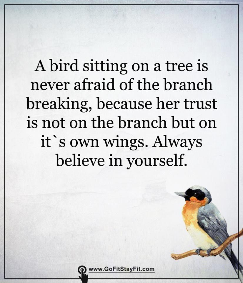 Always believe in yourself!