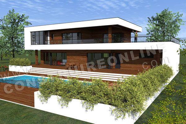 Plan maison architecte artefact terrasse id es for Plan amenagement terrasse exterieure