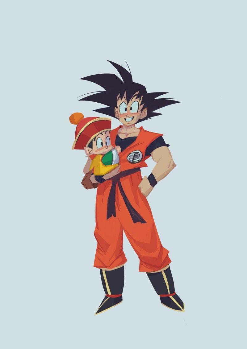 Artstation Goku And Gohan Santiago Lozano Goku And Gohan Anime Dragon Ball Gohan