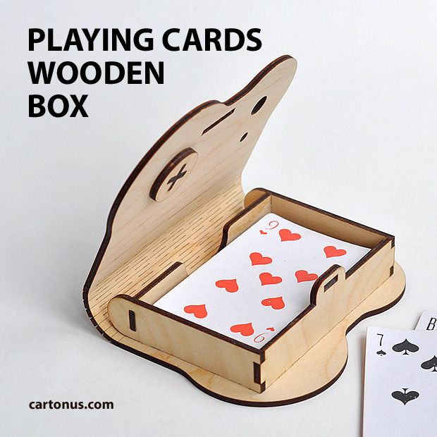 laser cut wood box template - playing cards gift packaging project plan for laser